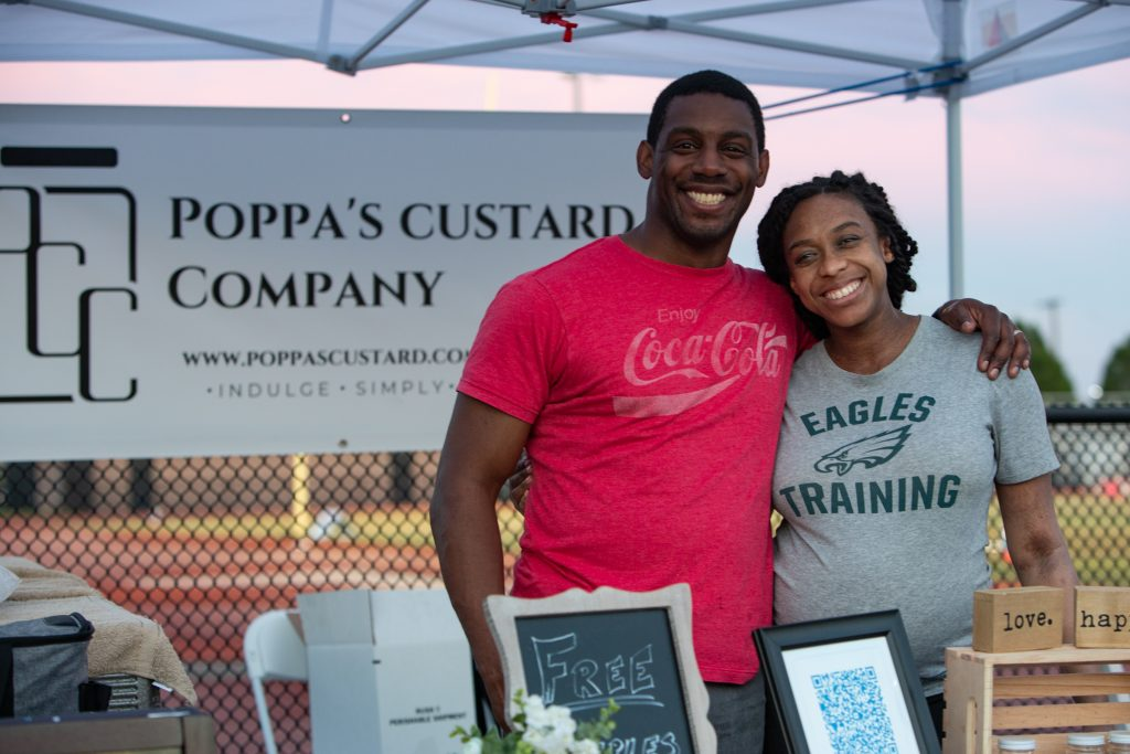 Josh and Christen Johnson, of Chestnut Hill, own Poppa's Custard Company
