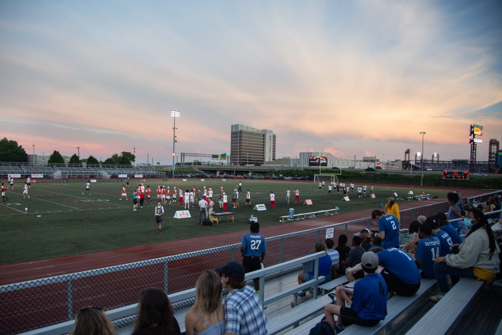 The South Philadelphia SuperSite sits directly across from the main sports stadiums
