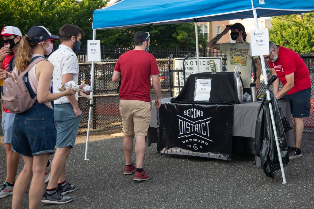 Second District Brewing offered locally made beer to fans at the game