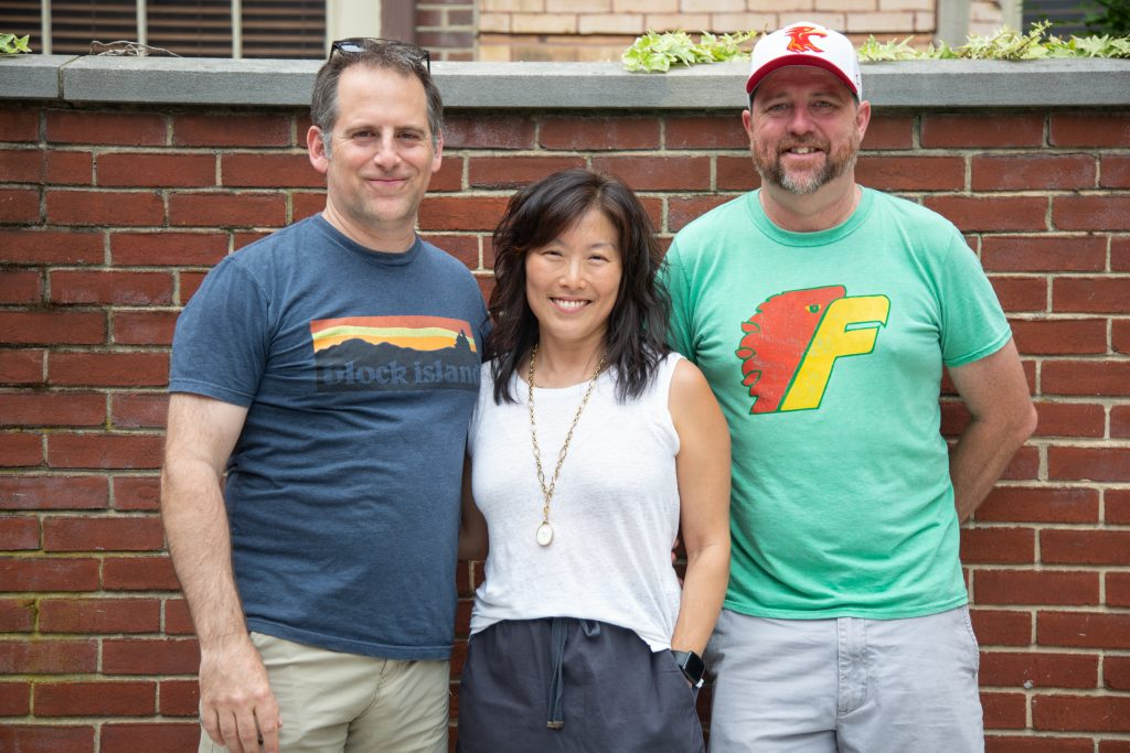 Jeff George, Christina Chung, and Johnny 'Goodtimes' Nottingham are co-owners of the Philadelphia Phoenix, the city's professional ultimate frisbee team