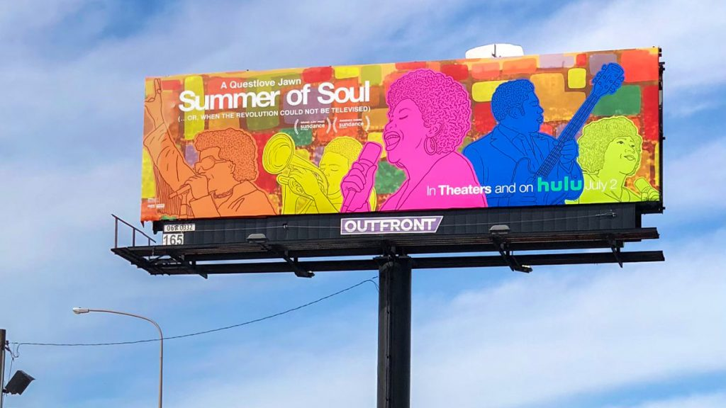 The first Mural Arts 'Summer of Soul' billboard on I-95 is by Symone Salib