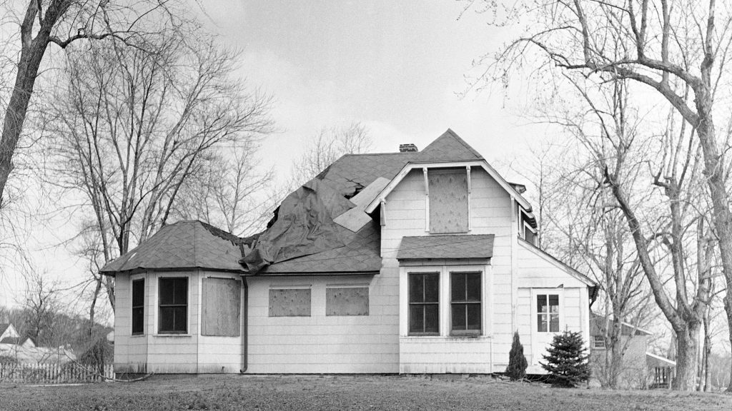 The house condemned by Rutledge officials after they denied a repair permit to George T. Raymond following a fire