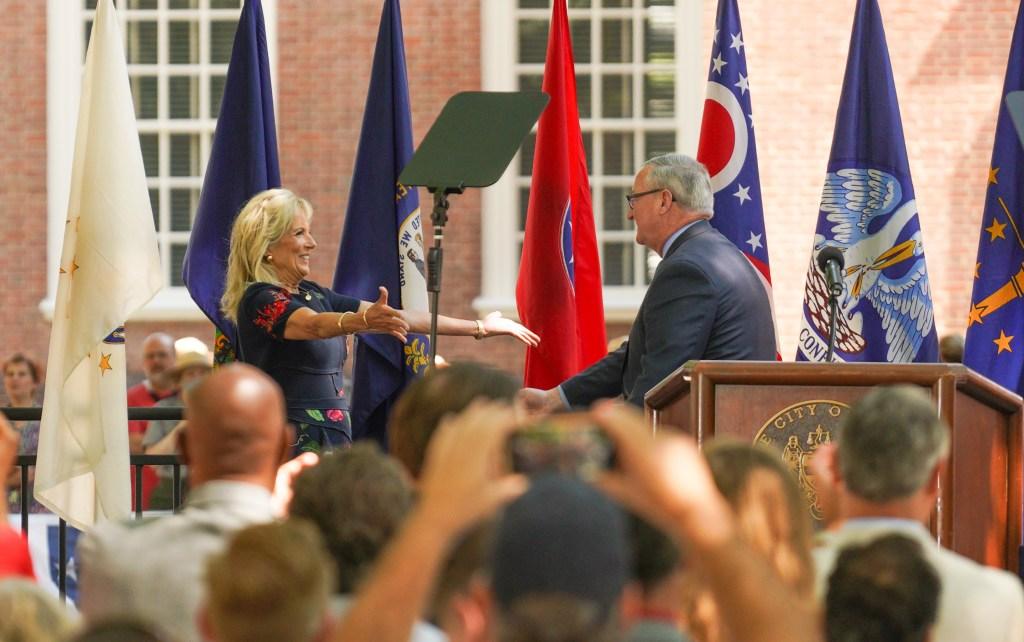 First Lady Jill Biden and Philadelphia Mayor Jim Kenney
