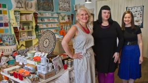 Co-owners Tiffica Benza (left), Ashley Peel (center), and Jennifer Provost (right) at Philadelphia Independents in Old City