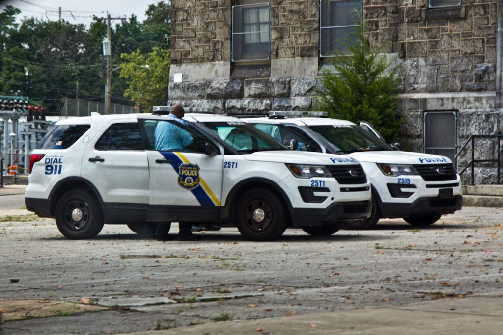 Police at Germantown and Allegheny Avenues on August 23, 2021
