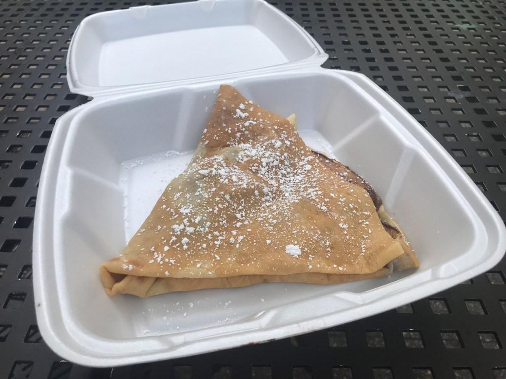 Nutella crepe at Profi's creperie