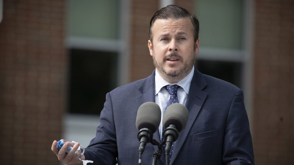 Pa. State Rep. Kevin Boyle speaking in York, September 2020