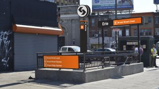 How the entrance to Erie Station would look under the new rebrand