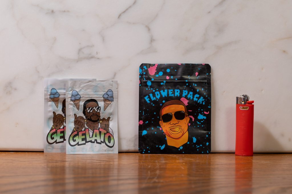 'Gelato' and 'Flower Pack' bags featuring rapper Gucci Mane