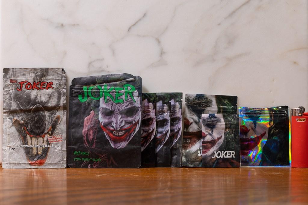 'The Joker' in six sizes/varieties