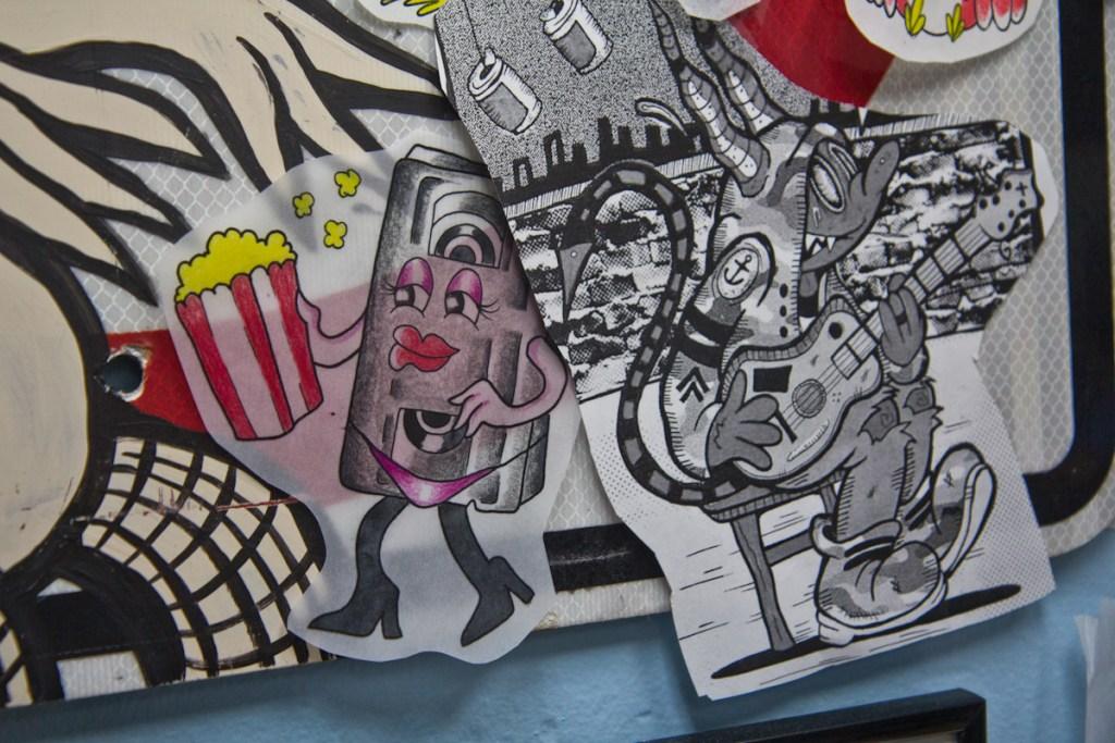 Artwork by Kelly Campanile, a tattoo artist at Eddie's Tattoo in Philadelphia's Chinatown neighborhood. (Kimberly Paynter/WHYY)
