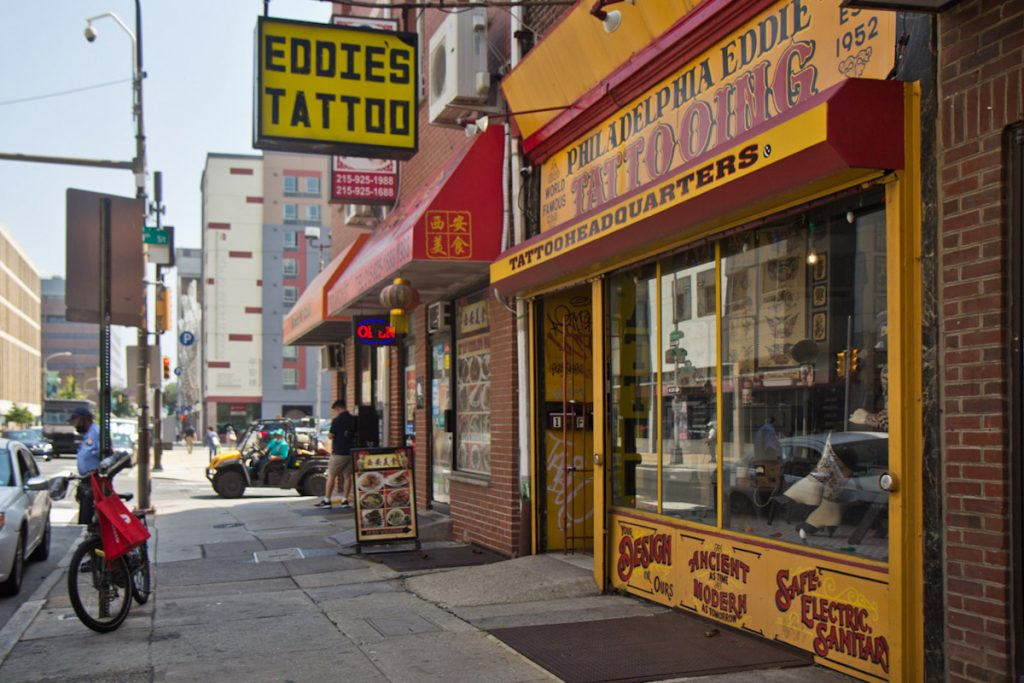 Eddie's at 9th and Arch streets claims to be one of Philly's oldest tattoo shops