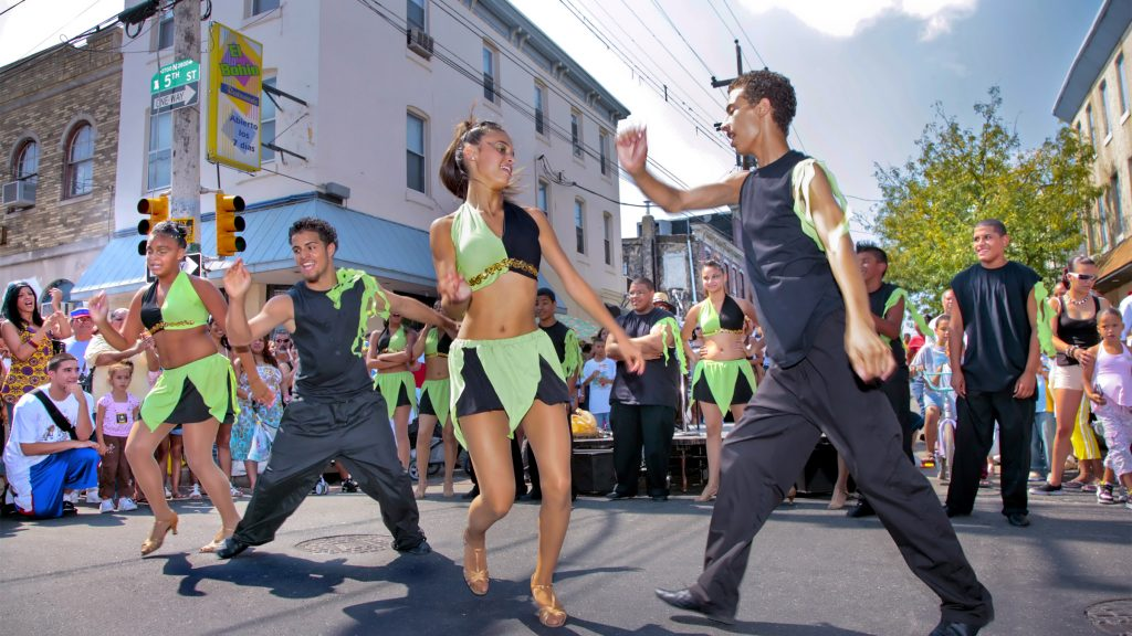 A scene during a past year's  Feria del Barrio from Taller Puertorriqueño