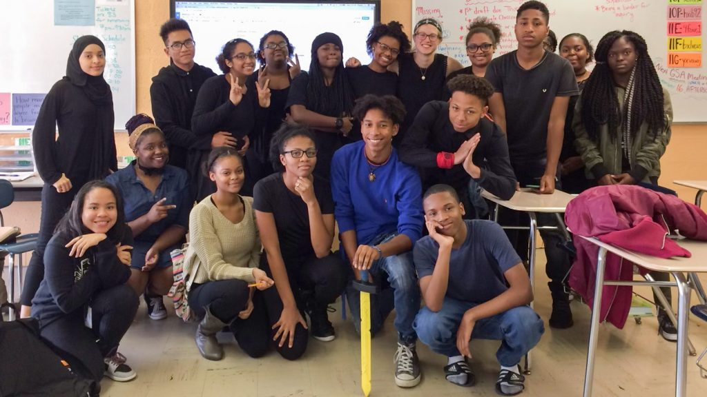 The Hill Freedman World Academy's GSA in its second year, from 2016-17