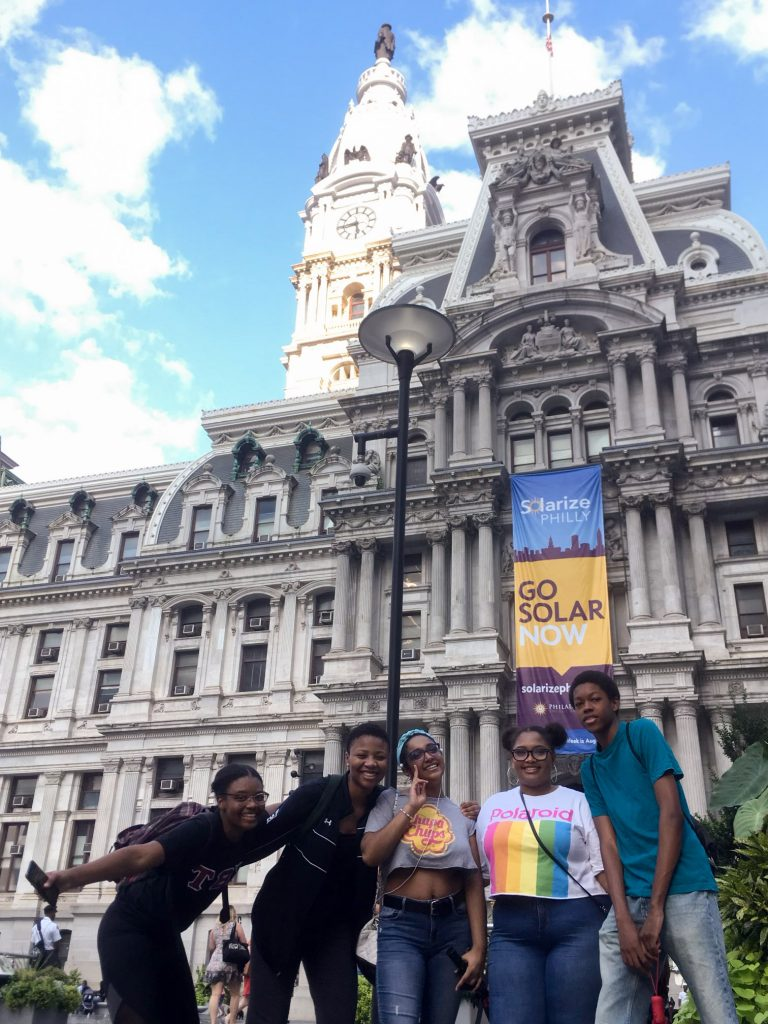 Hill Freedman World Academy students at OutFest in 2018