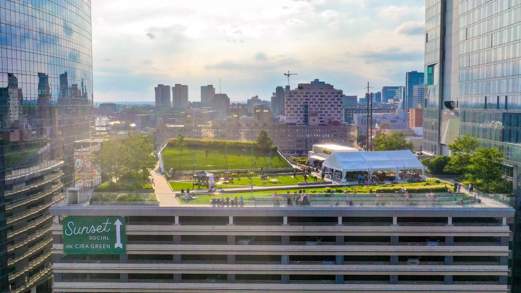 Sunset Social atop Cira Green might be the best use of a parking garage in Philadelphia