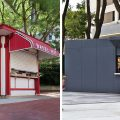 The Temple Bagel Hut before and after