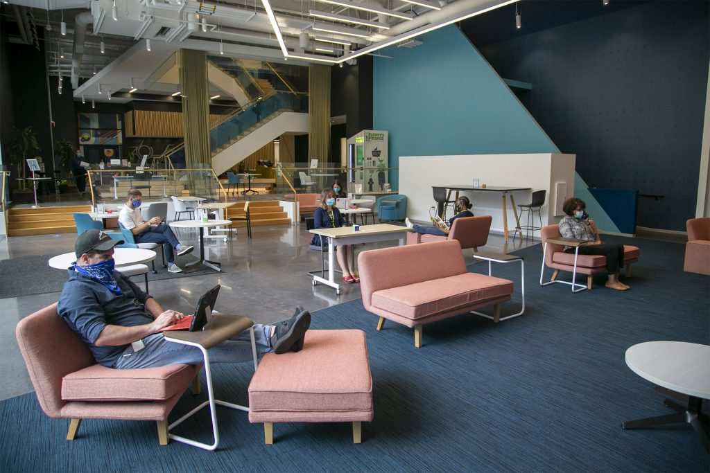 Quorum is the drop-in lounge at the University City Science Center