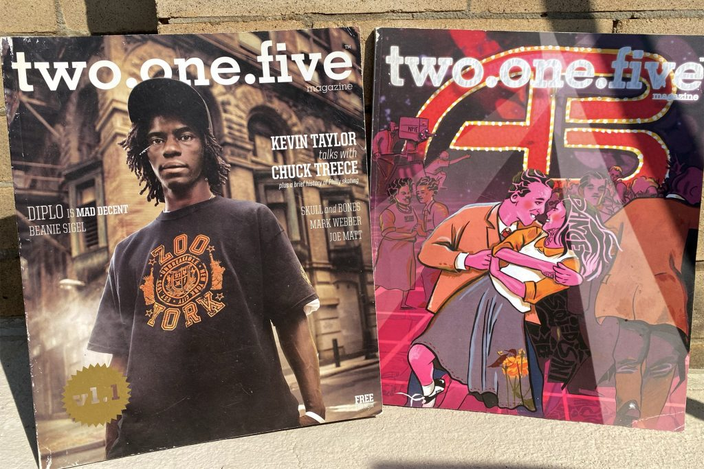 Early editions of Two One Five magazine