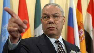 Then-U.S. Secretary of State Colin Powell in March 2003