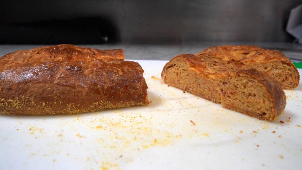 Down North Pizza's beef version of lard bread